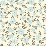 Teste padrão sem emenda do vetor da natureza das folhas coloridas. Imagens de Stock Royalty Free
