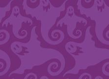 Teste padrão sem emenda do vetor da repetição do fantasma assustador de Dia das Bruxas Imagem de Stock