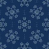 Teste padrão sem emenda do vetor da textura dos flocos de neve do inverno Neve estrelado tirada ilustração stock