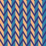 Teste padrão sem emenda do vetor da viga Ziguezague alaranjado colorido no fundo roxo Imagens de Stock
