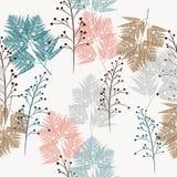 Teste padrão sem emenda do vetor das ervas e a samambaia, para a tela, o papel e a outra impressão e projetos da Web ilustração do vetor