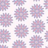 Teste padrão sem emenda do vetor das flores Fotografia de Stock