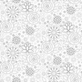 Teste padrão sem emenda do vetor das flores Fotografia de Stock Royalty Free