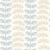 Teste padrão sem emenda do vetor das folhas ilustração royalty free