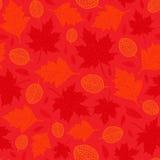 Teste padrão sem emenda do vetor das folhas de outono ilustração do vetor