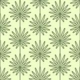 Teste padrão sem emenda do vetor das folhas de palmeira Estilo e cores do vintage (verde-amarelos) Imagens de Stock