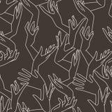 Teste padrão sem emenda do vetor das mãos fêmeas graciosas Foto de Stock