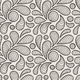 Teste padrão sem emenda do vetor das pétalas estilizados Foto de Stock Royalty Free