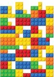 Teste padrão sem emenda do vetor das peças plásticas ilustração do vetor