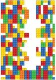 Teste padrão sem emenda do vetor das peças plásticas ilustração stock