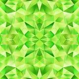 Teste padrão sem emenda do vetor de cristal abstrato verde Fotografia de Stock Royalty Free