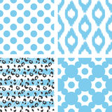 Teste padrão sem emenda do vetor de Ikat Geométrico abstrato Imagem de Stock Royalty Free