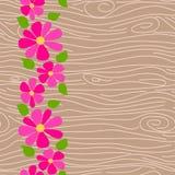 Teste padrão sem emenda do vetor de madeira da textura Foto de Stock Royalty Free
