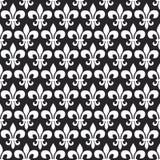 Teste padrão sem emenda do vetor de Mardi Gras com flor de lis Cores preto e branco ilustração royalty free