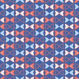 Teste padrão sem emenda do vetor de Memphis Style Geometric Bows Stripes ilustração do vetor