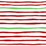 Teste padrão sem emenda do vetor de tiras vermelhas e verdes imagens de stock royalty free