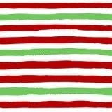 Teste padrão sem emenda do vetor de tiras vermelhas e verdes fotos de stock royalty free