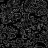 Teste padrão sem emenda do vetor decorativo abstrato com ondulação de formas decorativas, linhas, grade Foto de Stock