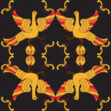 Teste padrão sem emenda do vetor decorativo com pássaros mitológicos Imagens de Stock Royalty Free