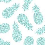 Teste padrão sem emenda do vetor do abacaxi para a matéria têxtil, scrapbooking ou papel de envolvimento Fotografia de Stock
