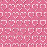 teste padrão sem emenda do vetor do coração 3d Ilustração do Vetor
