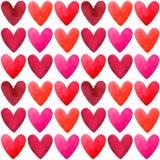 Teste padrão sem emenda do vetor do dia de Valentim Foto de Stock Royalty Free