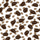 teste padrão sem emenda do vetor do feijão de café Imagem de Stock