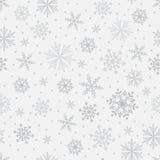 Teste padrão sem emenda do vetor do floco de neve ilustração stock