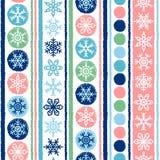 Teste padrão sem emenda do vetor do inverno, do Natal ou do ano novo Fotografia de Stock