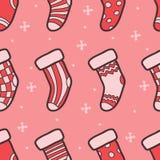 Teste padrão sem emenda do vetor do Natal Fotografia de Stock Royalty Free