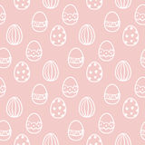 Teste padrão sem emenda do vetor do ovo da páscoa Fotografia de Stock