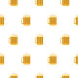 Teste padrão sem emenda do vetor do vidro de cerveja Foto de Stock