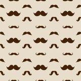 Teste padrão sem emenda do vetor dos bigodes do moderno Imagem de Stock Royalty Free