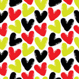 Teste padrão sem emenda do vetor dos corações Imagem de Stock Royalty Free