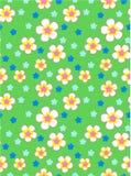 Teste padrão sem emenda do vetor dos desenhos animados coloridos das flores Fotos de Stock Royalty Free