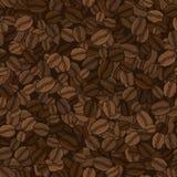 Teste padrão sem emenda do vetor dos feijões de café Fotografia de Stock