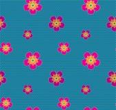 Teste padrão sem emenda do vetor dos pontos coloridos das flores Imagem de Stock