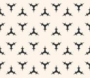 Teste padrão sem emenda do vetor, figuras espinhosas triangulares ilustração do vetor