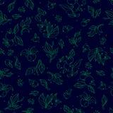 Teste padrão sem emenda do vetor floral Imagens de Stock