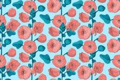 Teste padrão sem emenda do vetor floral da arte foto de stock
