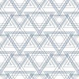 Teste padrão sem emenda do vetor Fundo geométrico simétrico com triângulos azuis na forma das estrelas Ornamen de repetição decor Fotos de Stock