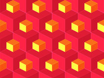 Teste padrão sem emenda do vetor isométrico geométrico abstrato Imagens de Stock Royalty Free