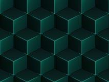 Teste padrão sem emenda do vetor isométrico geométrico abstrato Imagem de Stock