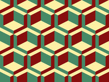 Teste padrão sem emenda do vetor isométrico geométrico abstrato Fotos de Stock Royalty Free