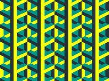 Teste padrão sem emenda do vetor isométrico geométrico abstrato Fotografia de Stock