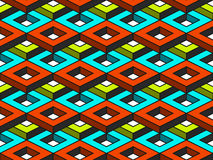 Teste padrão sem emenda do vetor isométrico geométrico abstrato Imagem de Stock Royalty Free