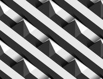 Teste padrão sem emenda do vetor listrado dos montes da pirâmide 3D Imagens de Stock Royalty Free