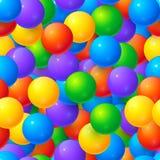 Teste padrão sem emenda do vetor lustroso colorido das bolas ilustração stock