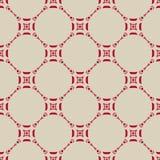 Teste padrão sem emenda do vetor no estilo asiático Textura tradicional vermelha e bege ilustração royalty free
