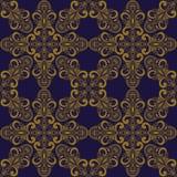 Teste padrão sem emenda do vetor no estilo oriental Imagens de Stock Royalty Free